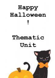 Happy Halloween! Thematic Unit