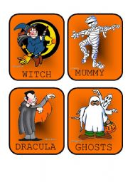 Halloween Flashcards - Vocabulary