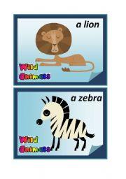 English Worksheets: Wild Animals - Flashcards