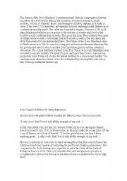 English Worksheets: sister euphrasia