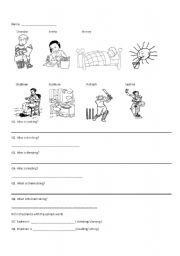 English Worksheets: who/ what/