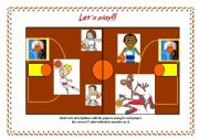 English Worksheet: Let�s play basketball