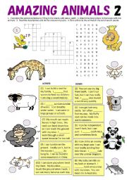 Can & Can´t fill-in blanks, Crossword, Word Search, Matching Quiz