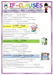 English Worksheet: IF-CLAUSES (Conditional)