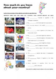 English Worksheet: Superlatives - How much do you know about Argentina?
