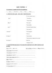 Mary Poppins Worksheet n° 3