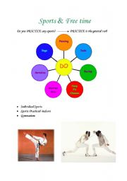 English Worksheets: Sports mind map