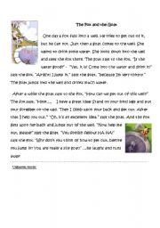 English Worksheets: The fox and the goat