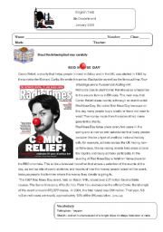English Worksheet: Red Nose Day test
