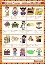 English Worksheet: PERSONAL PRONOUNS - SUBJECT & OBJECT FORMS