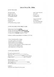Printable lyrics to viva la vida by coldplay