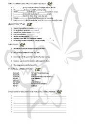 English worksheet: Grammar review
