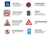 English Worksheets: road safety picture match