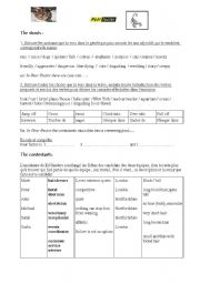 English Worksheets: Fear factor part 1
