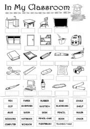 In my classroom - ESL worksheet by elisabetemiradouro