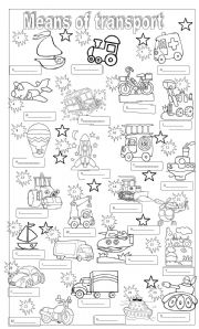 means of transportation coloring pages - photo#4