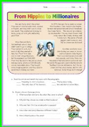 English Worksheets: Ben & Jerry
