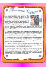 English Worksheet: Reading - Ancient Egypt