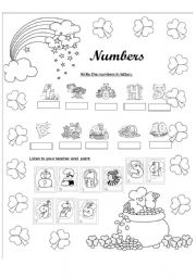 English Worksheets: Numbers from 1-10