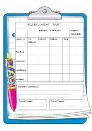 English Worksheets: A detailed assessment paper