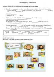 English Worksheet: Modern Family (TV Series)