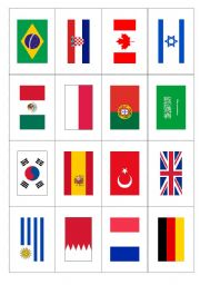 World Flags 1flashcards Esl Worksheet By Suethom