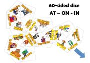 English Worksheet: Prepositions of time dice game