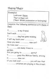 Their There and They'-re | Reading worksheets, Worksheets and ...