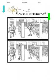 English Worksheets: find the differences