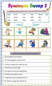 English Worksheet: Synonym Sweep Part 2