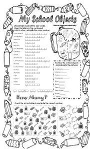 English Worksheet: my school objects part 2