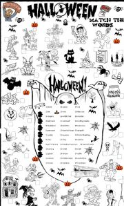 English Worksheets: halloween matching