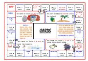 English Worksheets: Gameboard + 45 question cards