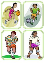 Sports Flashcards- Set of 16- 4 PAGES