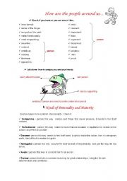 English worksheet: People Around Us