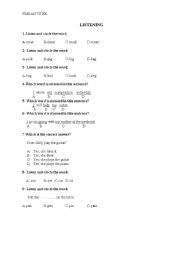 English Worksheets: listenning exercises