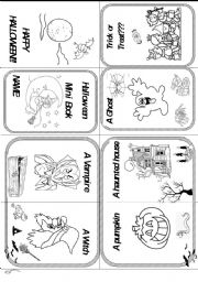 English Worksheets: HALLOWEEN MINIBOOK