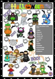 English Worksheets: HALLOWEEN - MATCHING