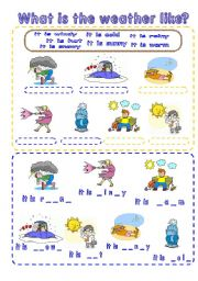 English Worksheet: What is the weather like?