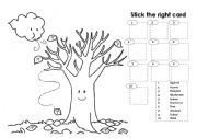 English Worksheet: Autumn - stick the right card