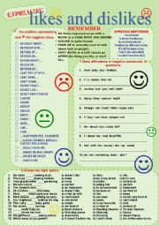 English Worksheet: Likes and Dislikes