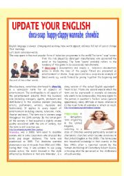 English Worksheets: UPDATE YOUR ENGLISH
