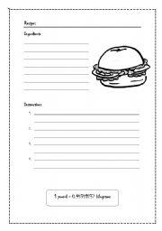 English teaching worksheets recipes english worksheets hamburguer recipe forumfinder Choice Image