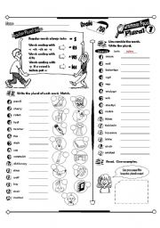 English Worksheet: Grammar Focus Series_01 Plurals (Fully Editable + Answer Key)