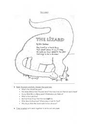 English Worksheets: The lizard