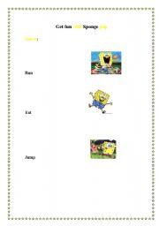 English Worksheets: Get fun with sponge pop