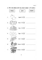 Printables Elementary Health Worksheets english teaching worksheets healthy food food