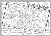 English worksheet: FIND THE ANIMALS