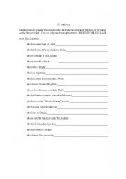 English teaching worksheets: Questions