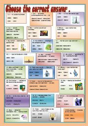 English Worksheet: PRESENT and PAST OF